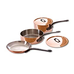 Mauviel 5 Piece Copper Cookware Set