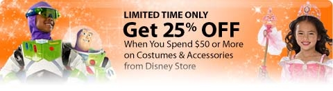 25% Off $50 Purchase Disney Costumes & Accessories 578212910._V231419920_