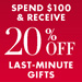 20% Off $100 | Last-Minute Gifts