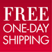Free One-Day Shipping