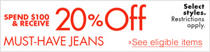 20% Off Must-Have Jeans