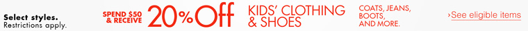 KIDS' FALL FASHION PROMOTION
