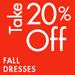 Take 20% Off Fall Dresses