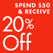 Spend $50 & Receive 20% Off Kids' Shoes