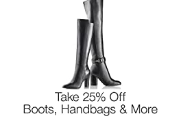 Take 25% Off Shoes & Handbags