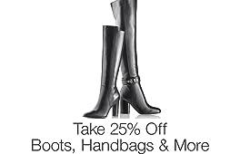 Take 25% Off Shoes & Handbags