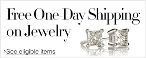Free One Day Shipping on Select Jewelry