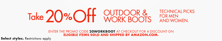 美国Amazon:精选户外鞋靴,额外8折码