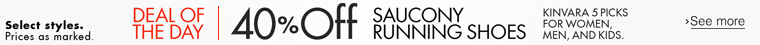 Deal of the Day: 40% Off Saucony Running Shoes
