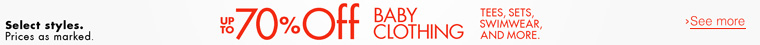 70% off Baby Clothing