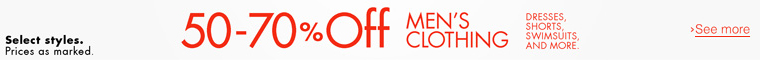 50-70% Off Clothing