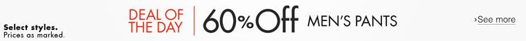 60% Off Men's Pants