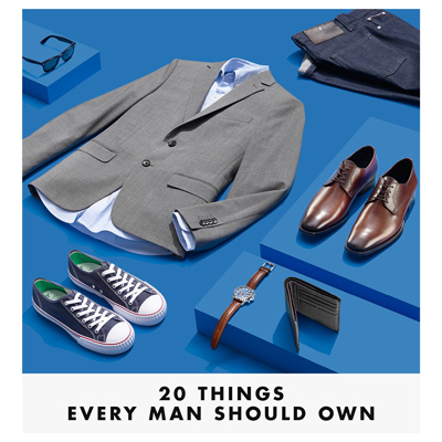 Twenty Things Every Man Should Own