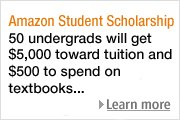 Amazon Student Scholarship > Learn more