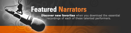 Featured audio book narrators