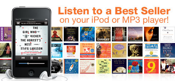 Listen to a best seller on your iPod or MP3 player!