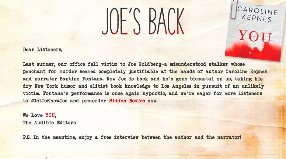 Joe's Back