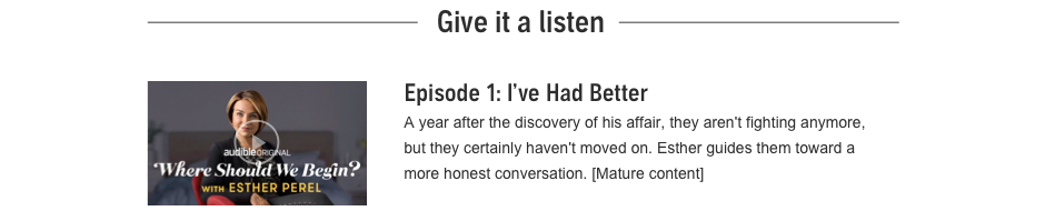 Episode 1: I've Had Better