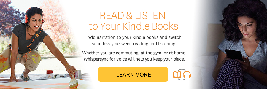 Now it's easier than ever to switch between reading and listening in the Kindle app