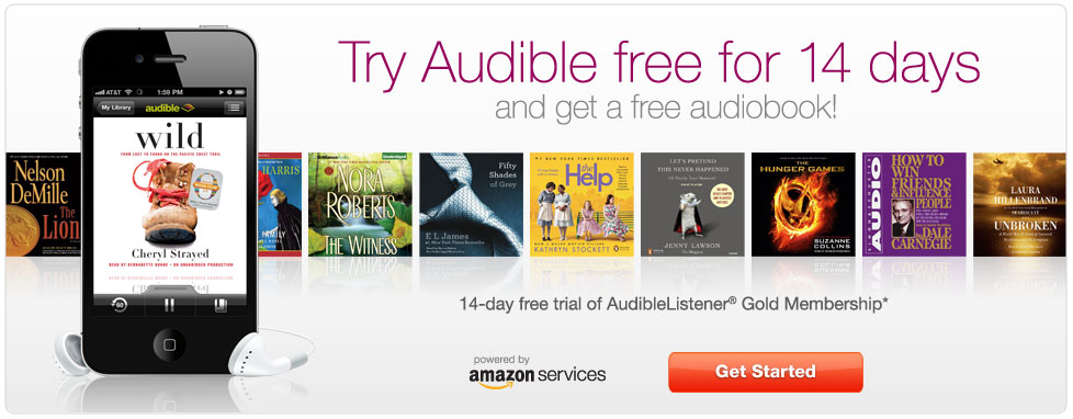 Try Audible free for 14 days and get a free audiobook