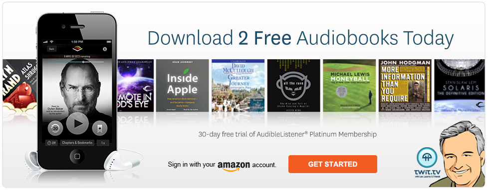 Try Audible free for 30 days and get 2 free audiobooks