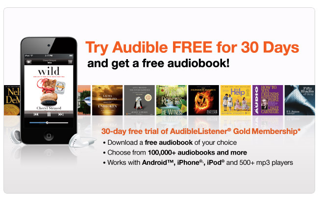Download a free audiobook to your iPod, Android or mp3 player.