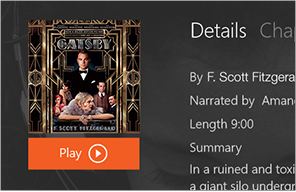 An audiobook that has downloaded a portion and is ready for playback