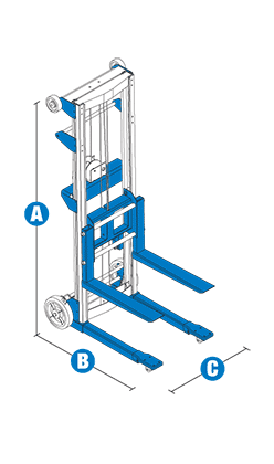 Genie GL-8 Material Lift with Aluminum Straddle Base Specifications