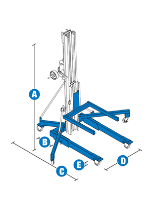 Genie SLA-5 Heavy-Duty Superlift with Straddle Base Specifications