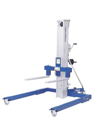 Genie SLA-5 Heavy-Duty Superlift with Straddle Base Lifestyle Shot
