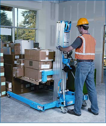 Genie SLA-15 Heavy-Duty Superlift with Straddle Base Lifestyle Shot