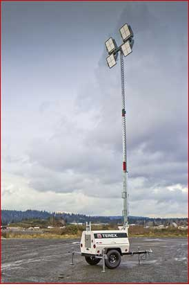 Terex AL-4L LED Light Tower Lifestyle Shot