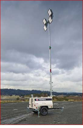Terex AL-5L LED Light Tower Lifestyle Shot
