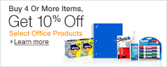 Buy 4 Or More Items, Get 10% Off Select Office Products