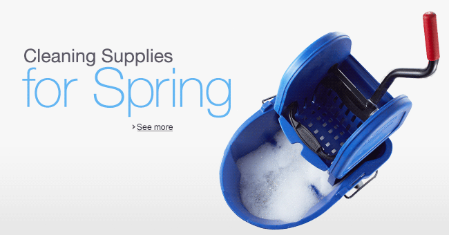 Spring Cleaning Supplies from Rubbermaid Commercial