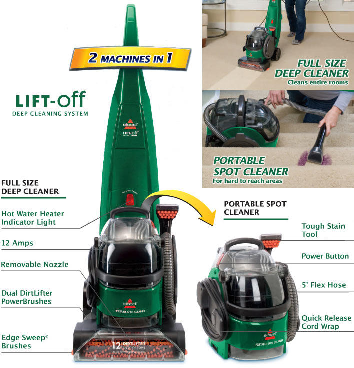 Amazon.com - BISSELL Lift-Off Full Sized Carpet Cleaner, 94Y2 ...