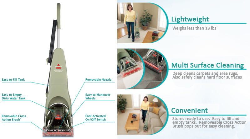 Bissell Carpet Cleaner Instructions Bissell Quicksteamer Multi