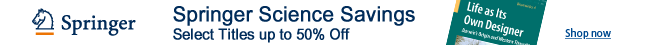 TSpringer Science Savings: Select Titles Up to 50% Off