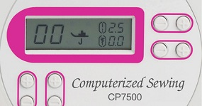 LCD screen with computerized stitch selection