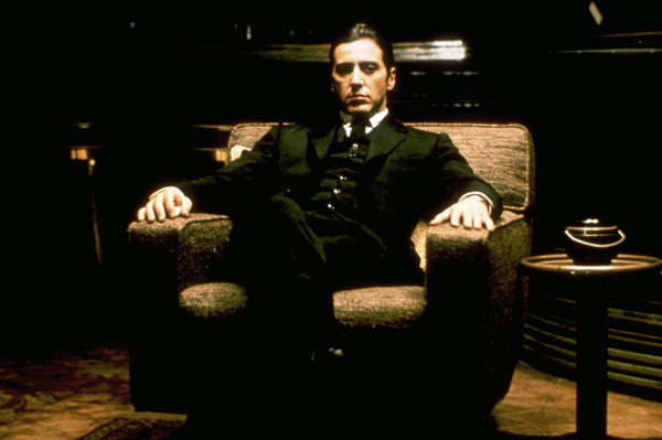 the godfather al pacino crime sitting in chair