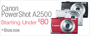 Canon PowerShot A2500 Starting Under $80