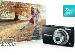 a2300 feature 04b. V138554144  Canon PowerShot SX500 IS 16.0 MP Digital Camera with 30x Wide Angle Optical Image Stabilized Zoom and 3.0 Inch LCD (Black)