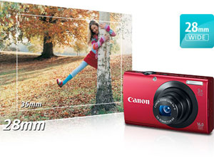 Canon PowerShot A3400 IS Wide-angle at Canon PowerShot A3400 IS 16.0 MP Digital Camera