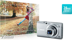 Canon PowerShot A4000 IS Wide-Angle at Canon PowerShot A4000IS 16.0 MP Digital Camera