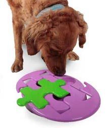 Dog with Jigsaw Glider puzzle