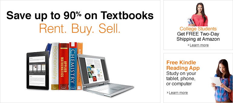 Save up to 90% on Textbooks. Rent. Buy. Sell.