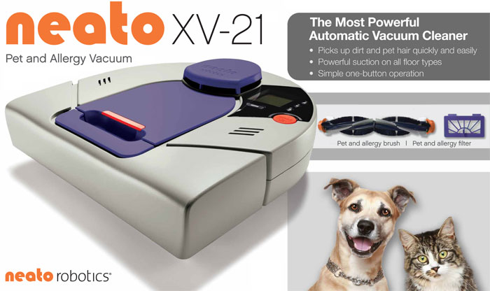 NeatoElement1 Cheap Neato XV 21 Pet & Allergy Automatic Vacuum Cleaner Big Sale
