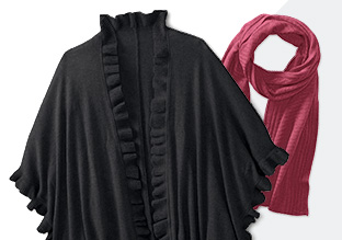 Stay Warm: Scarves, Capes & Wraps