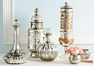 Shining opportunities metallic d cor stylish daily for Home decor and accents