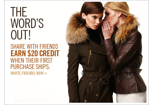 Invite Friends, Get $20 Credit